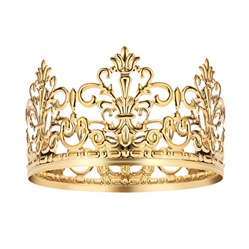 BESTONZON Tiara Crown/Gold Cake Crown Topper Crown Hair Ornaments Wedding Supplies Accessories (Gold Decoration Crown)