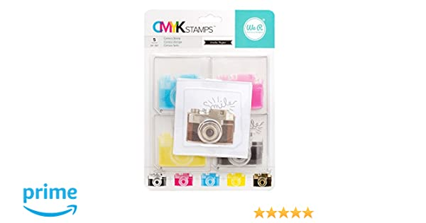 4 L x 8 H 6 pc. Inkadinkado Cameras Unmounted Clear Rubber Stamp Set for Cards and Scrapbooking