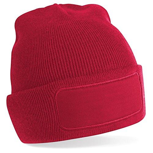 Beechfield básico de beanie Ideal Gorro invierno para imprimir hombre unisex Red mujer estampar Classic twwrqTE