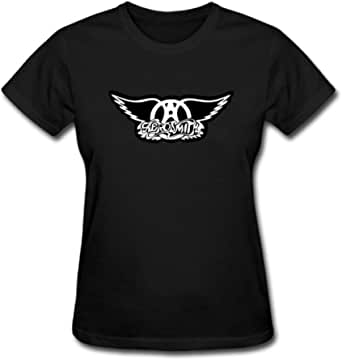 Duanfu Aerosmith Vector Women's Cotton Short Sleeve T-Shirt
