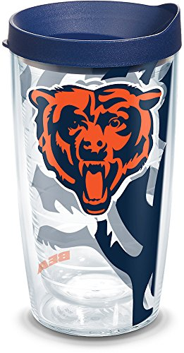 Tervis 1292011 NFL Chicago Bears 16 oz Tumbler with lid, Clear -