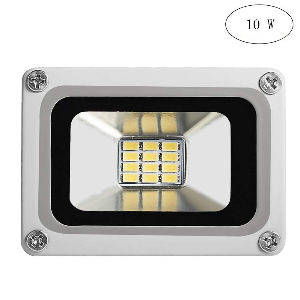 10X 10W blanco fresco impermeable IP65 SMD reflector de la lámpara de luz de seguridad brillante LED luz de inundación al aire libre y cubierta 220V [Clase de eficiencia energética A+] Molie