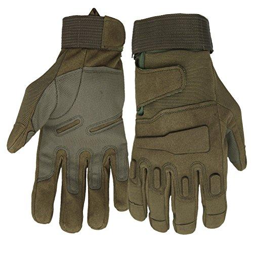 Mimicool Herren Outdoor-Handschuhe Full Finger Military Tactical Handschuhe Anti-Rutsch Verschleißbeständige Fahrrad…