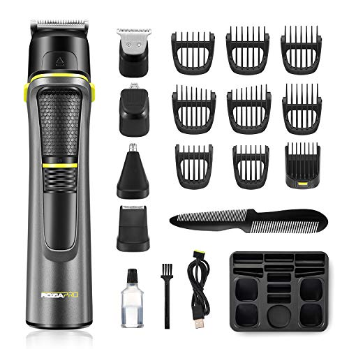 Roziahome Beard Trimmer Professional Hair Clippers for Men 14 in 1 Grooming Kit Trimmer for Men Rechargeable Cordless Hair Mustache Trimmer Body Groomer Trimmer Waterproof