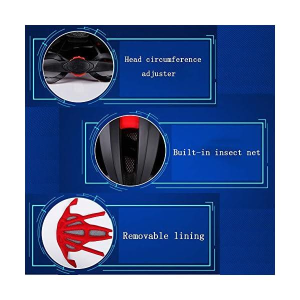 EDW Casco Bluetooth Intelligente per Bici Musica Chiamata Intelligence Cappellino di Sicurezza Equipaggiamento Protettivo Antiurto Leggero 5 Colori Incluso fanale Posteriore Staccabile,Whitered 6 spesavip