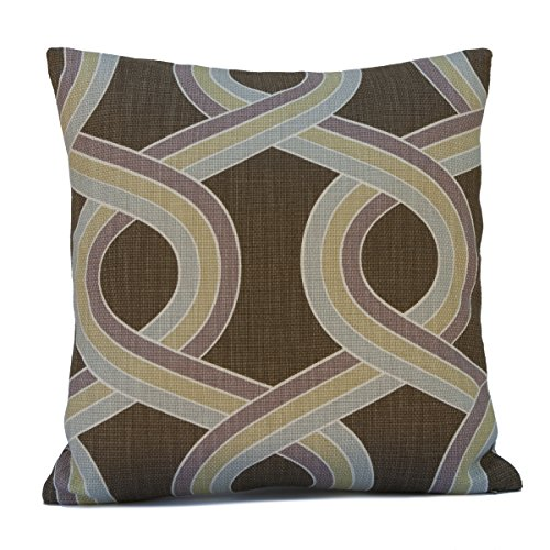 Light Tan and Brown Silk Decorative Cover Cinnamon Copper Throw Pillow Cover