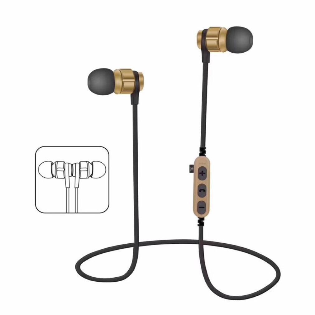 Auricular,YUYOUG Auricular inalámbrico Bluetooth 4,2 Auriculares estéreo audífonos Sport Auriculares (Black): Amazon.es: Deportes y aire libre