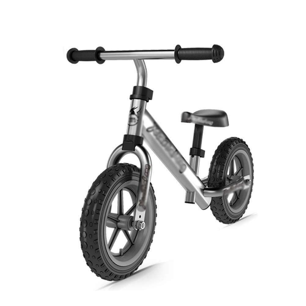 バランスバイク、幼児用バイク、アルミ合金フレーム付きトレーニングバイク、ランニングバイク、26歳用、男子生徒、誕生日プレゼント ZHAOFENGMING (Color : Silver, Size : As shown) B07TLMNNX8 Silver As shown