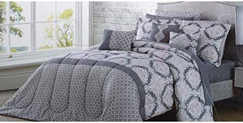 7 Piece Primo Sage//White Comforter Set