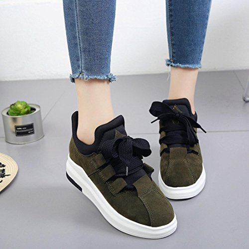 12aec85647a16 Culater Zapatillas Moda Deporte Sneakers De Plataforma Respirable Para  Zapatos Grueso Verde Mujer 6ZrFq6
