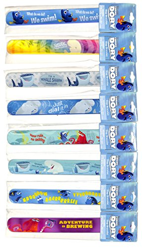 - Disney Pixar Finding Dory Slap Band Bracelet Set of 8
