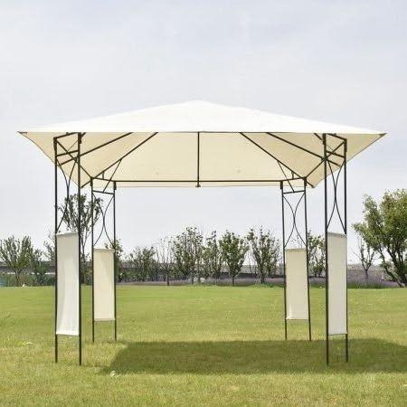 Gazebo - Tienda de campaña (cuadrada, 25, 4 x 25, 4 cm), color beige: Amazon.es: Jardín