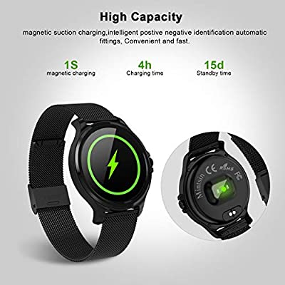 Amazon.com: Smartwatch-Fitness with All Day Heart Rate ...