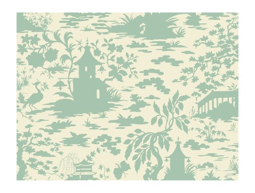 (York Wallcoverings AP7417SMP Silhouettes Asian Scenic Toile Wallpaper Memo Sample, 8-Inch x 10-Inch)