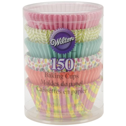 Wilton Assorted Spring Theme Baking Cups, 150-Pack -