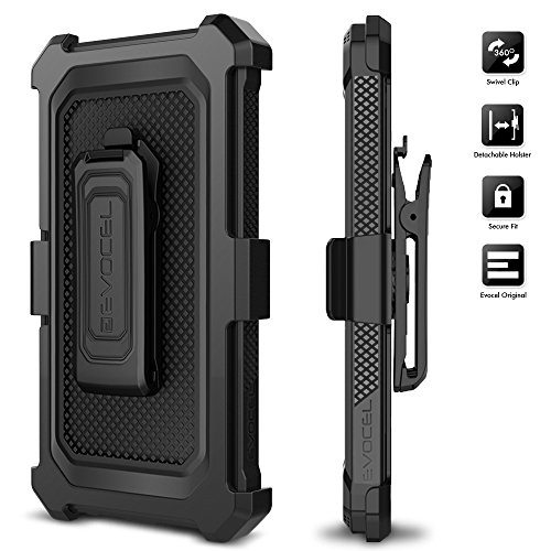 LG K20 Plus Case, Evocel [Explorer Series] with FREE [LG K20 Plus Glass Screen Protector] Premium Full Body Case [Slim Profile][Rugged Belt Clip Holster] For LG K20 Plus / K20 V / LG Harmony, Black by Evocel (Image #5)