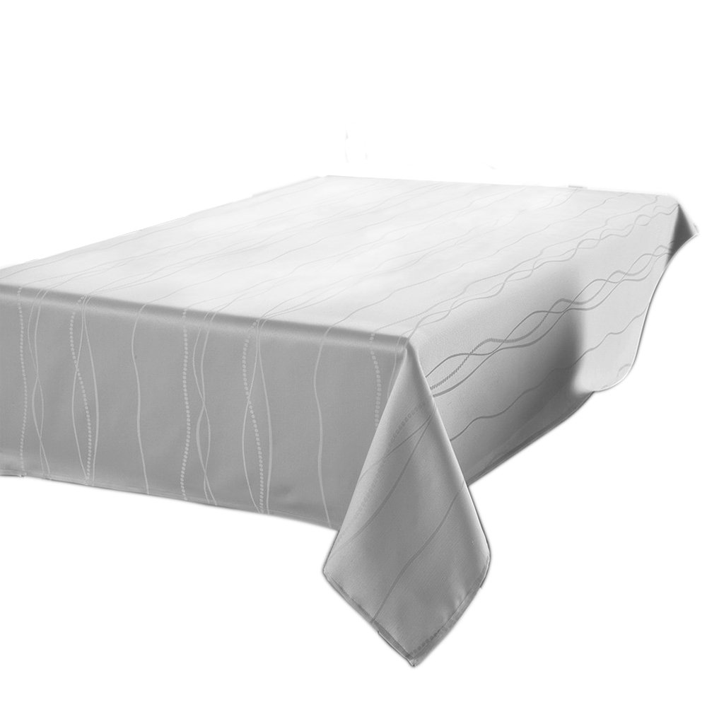 Amazon Is Offering This Highly Rated Benson Mills Gourmet Spillproof Fabric  Tablecloth, White, 60 Inch By 102 Inch For Just $16.99 With FREE Prime  Shipping ...
