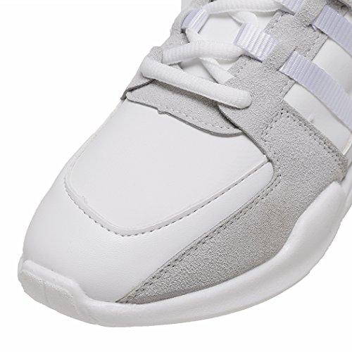 Zapatillas gris de de para Piel mujer running Nilover Otra d5qZOwcvdU