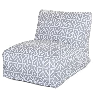 Majestic Home Goods Aruba Bean Bag Chair Lounger, Gray
