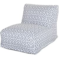 Majestic Home Goods Aruba Bean Bag Chair Lounger, Gray