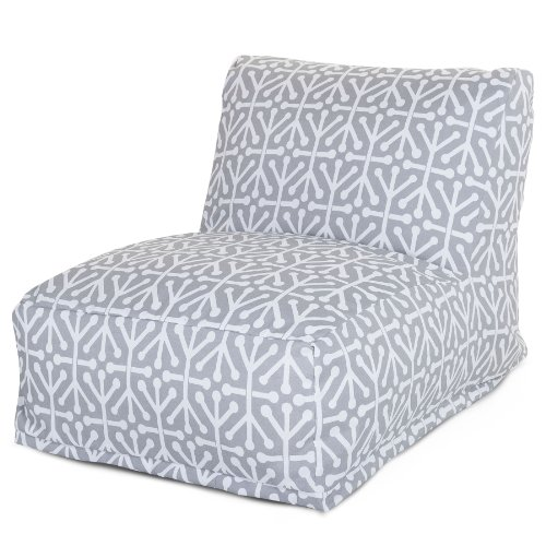 Majestic Home Goods Aruba Bean Bag Chair Lounger, Gray by Majestic Home Goods