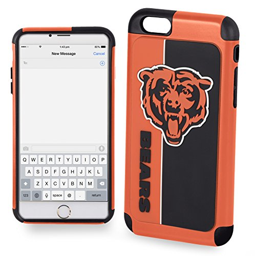 Forever Collectibles IPHNNFEXTPU6LCB Dual Hybrid Bold Series Case for iPhone 6 Plus/6S Plus,NFL Chicago Bears