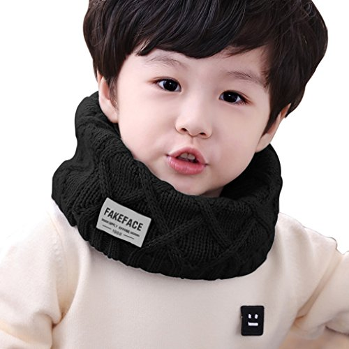 Price comparison product image Child Soft Thick Circle Loop Scarves Winter Versatile Neckerchief Shawl Kids Knitted Neck Warmer for Boys and Girls