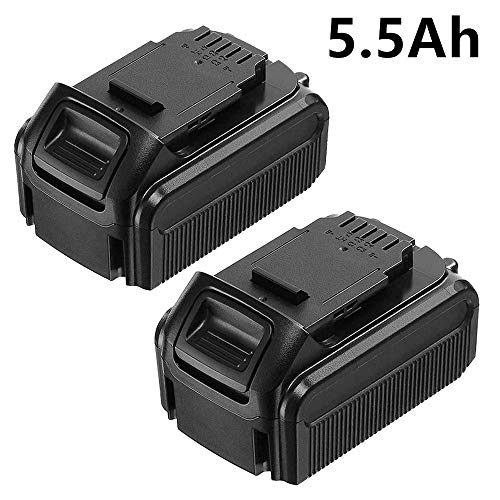 - 2 Pack Replace for Dewalt 20V Battery DCB205 DCB204 DCB203 DCB200 5500mAh Max Lithium Ion DCD DCF DCG DCS DCK Series