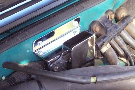 1986-1993 Mustang 5.0 Barometric Sensor Polished Stainless Mounting Bracket by Yates Performance