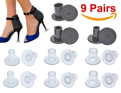 High Heel Protectors, Heel Stopper with 3 Size, Small / Middle/ Large (9 Pairs) by G&S