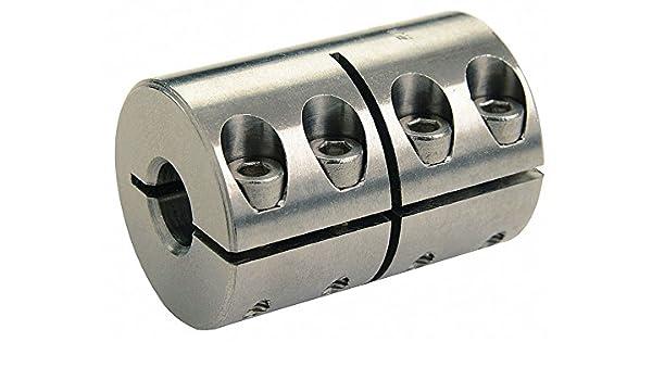1 Piece Clamp 1-3//8 Bore Dia Steel Rigid Shaft Coupling