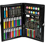Deluxe Master Art Supplies Set for Kids - Perfect Beginner Artist Coloring and Drawing Kit - 101 Piece Art Set in Black Case Includes Watercolor, Crayons, Colored Markers, Color Pencils & More By N