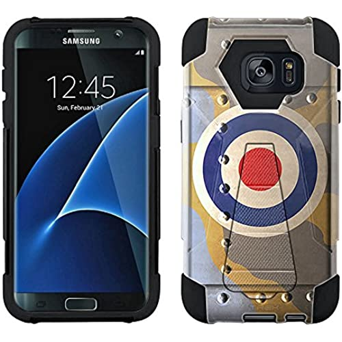 Samsung Galaxy S7 Edge Hybrid Case Royal Air Force War Plane Fuselage 2 Piece Style Silicone Case Cover with Stand for Samsung Galaxy S7 Edge Sales