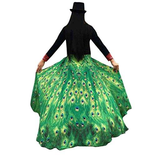 Tuscom Soft Fabric Peacock Wings Shawl, Fairy Ladies Nymph Pixie Costume Accessory (197×125CM/Chiffon, Green)