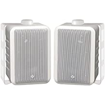 BIC America RTRV44-2W 3-Way Speakers White RtR Series Indoor/Outdoor Consumer Electronics
