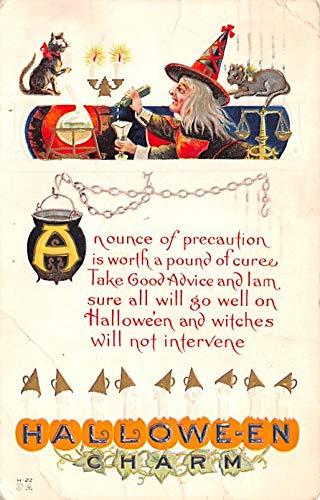 Halloween Post Card Old Vintage Antique 1914]()