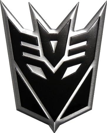amazon com transformers decepticon black large aluminum emblem