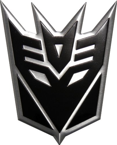 on sale 3f01f ac42c Amazon.com  Transformers DECEPTICON BLACK LARGE Aluminum Emblem  Automotive
