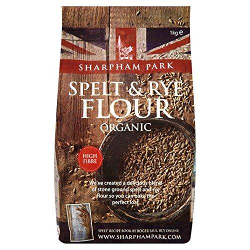 Sharpham Parque Orgánica de espelta y centeno 1 kg de harina ...