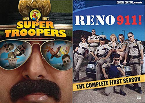 Listen Here Meow I Want a Liter O' Cola Mega Pack: Super Troopers & Reno 911! Complete First Season Movie/ Show DVD Bundle
