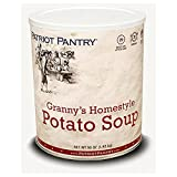 Patriot Pantry Granny's Homestyle Potato Soup (32 servings) #10 Can Bulk Emergency Storage Food Supply, Up to 25-Year Shelf Life