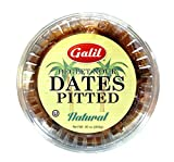 Galil All Natural Pitted Degletnour Dates, 30 Ounce (Pack of 12)