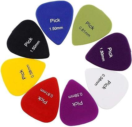Fenghong 50 piezas de guitarra elegidas en 6 tipos de grosor ...