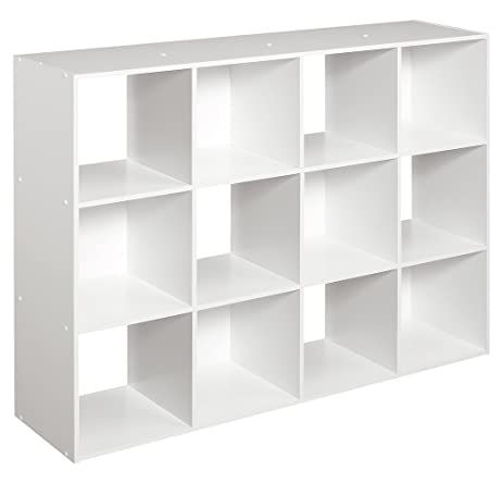 Interior Shelf Organizer amazon com closetmaid 1290 cubeicals organizer 12 cube white white