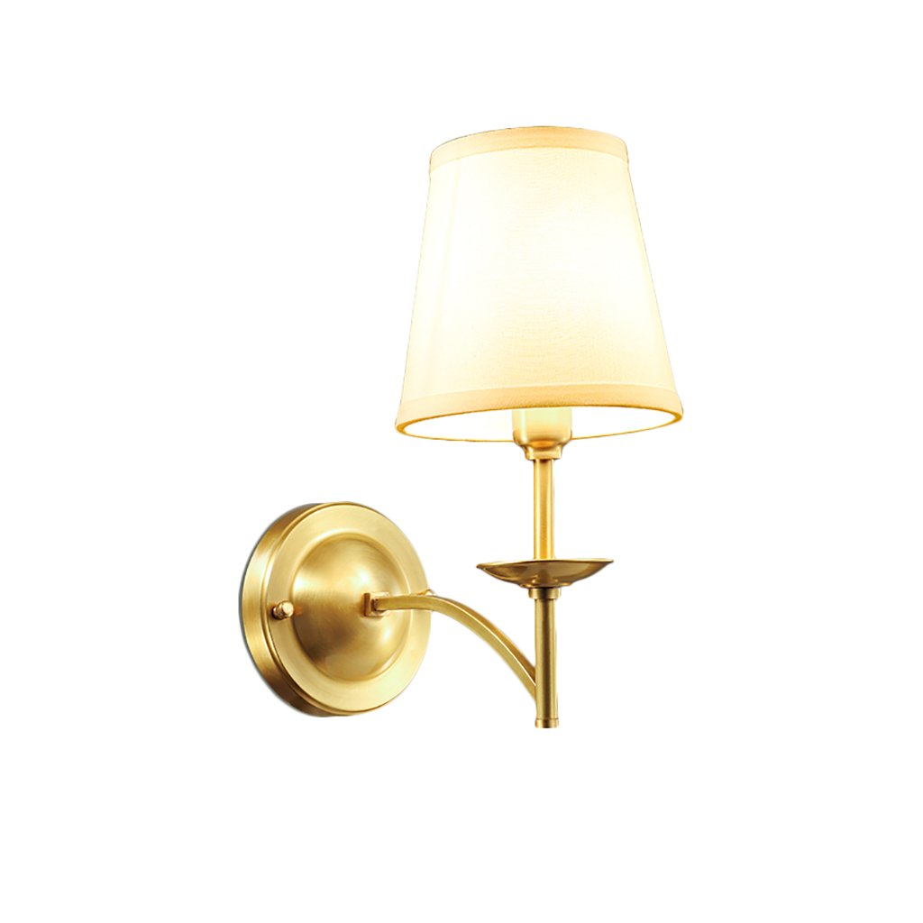 Retro Luxury Brass Wall Lamp Bedroom Bedside Lamp Mirror Front Lamp Wall Decoration Home Decoration Wall Lamp Hotel Wall Lamp by Crystal (Image #1)