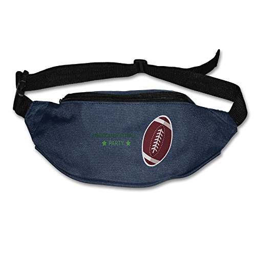 American Football Play Running Belt Adjustable Navy Waist Fanny Pack Bum Bag Hiking Fitness Runners Waist Bag For Men Women