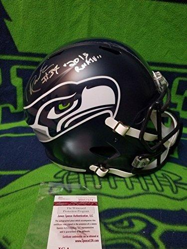 Thomas Autographed Helmet - Thomas Rawls Autographed Signed Seattle Seahawks Full Size Replica Helmet JSA Authentic