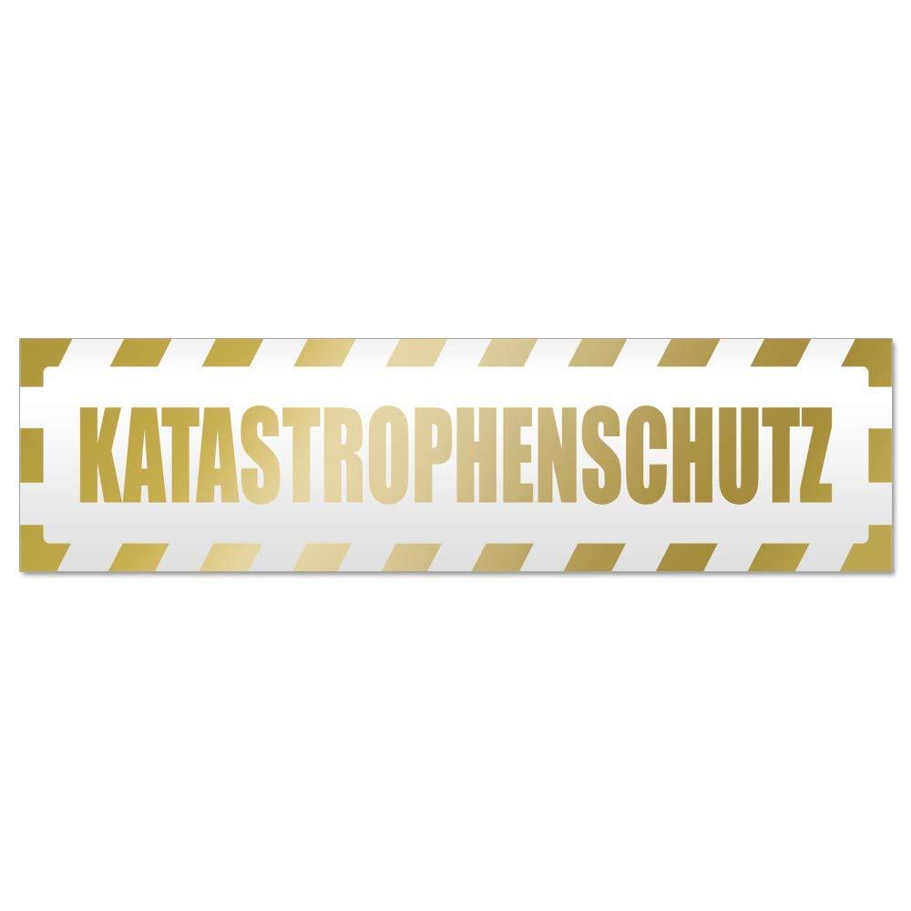 Kiwistar Katastrophenschutz gestreift Magnetschild Schild magnetisch