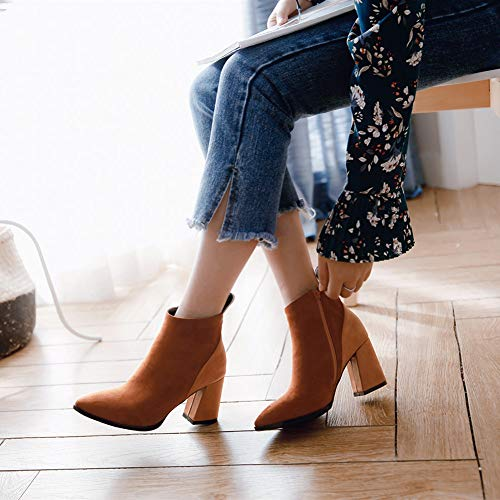 Para Gruesas Puntiagudas Otoñales Botas Invernales Y Anchas Sencillas Cómodas Grandes Con E Calzas Caqui Mujer Kfdq 5YHawTxY