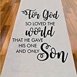 For God So Loved The World That He Gave His Only Son Aisle Runner